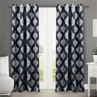 Oliver & James Feke Medallion Pattern Blackout Curtain Panel Pair