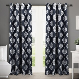 ATI Home Medallion Blackout Window Curtain Panel Pair with Grommet Top