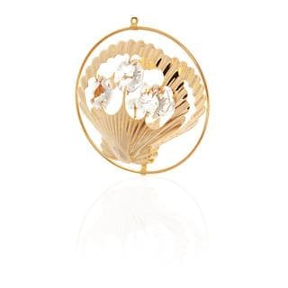 Matashi 24k Goldplated Genuine Crystals Sea Shell Ornament