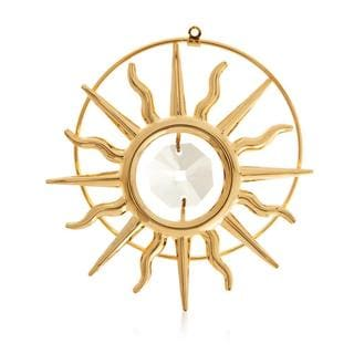 Matashi 24k Goldplated Genuine Crystals Sun Ornament