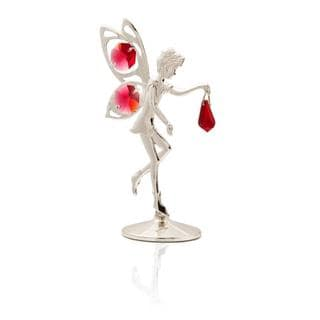 Matashi Silverplated Genuine Crystals Fairy Figureine