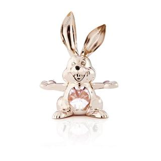 Matashi 24k Silverplated Genuine Crystals Cartoon Bunny Ornament