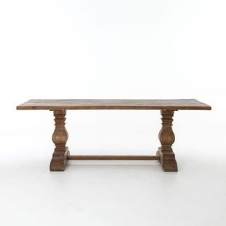 Natural Reclaimed Wood Trestle Dining Table