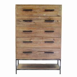 Elegant Reclaimed 5 Drawer Dresser