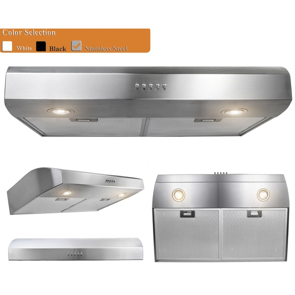 Charmant AKDY RH0039 30 Inch Stainless Steel Under Cabinet Mount Range Hood