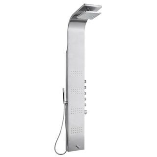 59-inch Thermostatic Stainless steel Shower Panel Tower Massage Jets With Rain Head