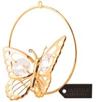 Matashi Goldplated Crystal Butterfly Ornament