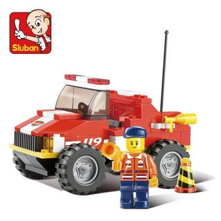 Sluban Interlocking Bricks Mini Rescue Truck