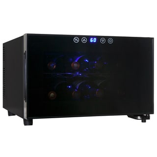 AKDY 8 Bottles Wine Chiller Cooler Cellar Fridge Counter Top Temperature Control Single Zone