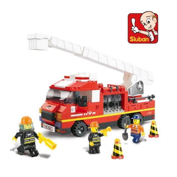 Sluban Interlocking Bricks Arial Ladder Truck