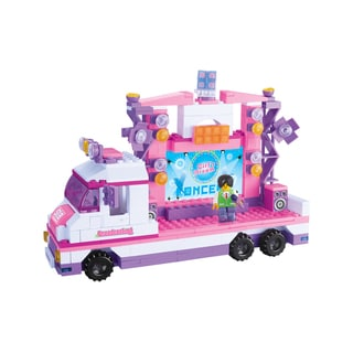 Sluban Interlocking Bricks Lighting Stage Car