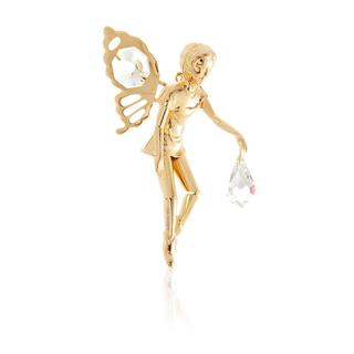 Matashi 24k Goldplated Genuine Crystals Boy Fairy Ornament