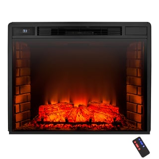 AKDY 26-inch Freestanding 6 Setting LED Backlit Tempered Glass Adjustable Button Control Electric Fireplace Heater Remote