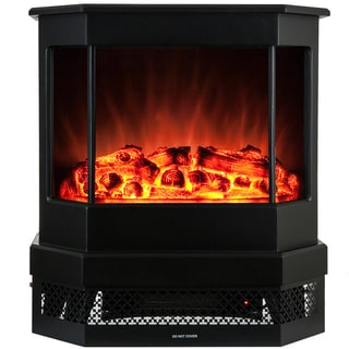 AKDY 23-inch 2 Setting 1500W Adjustable 5200BTU Tempered Glass Electric Insert Fireplace Stove Heater
