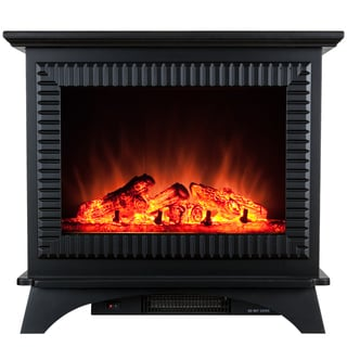 AKDY 27-inch Freestanding 2 Setting 1500W Adjustable 5200 BTU Tempered Glass Electric Fireplace Stove Heater