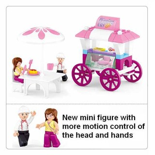 Sluban Interlocking Bricks Food Carriage