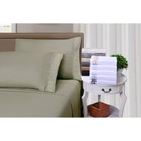 Superior Wrinkle Resistant Embroidered Microfiber Pillowcases (Set of 2)