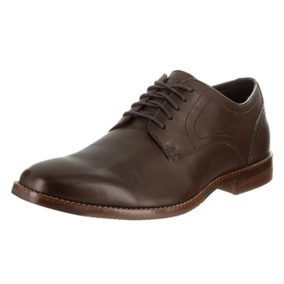 Men's Rockport Style Purpose Plain Toe Oxford Dark Brown