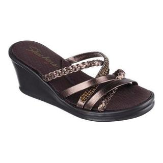 Women's Skechers Rumblers Wild Child Wedge Slide Bronze