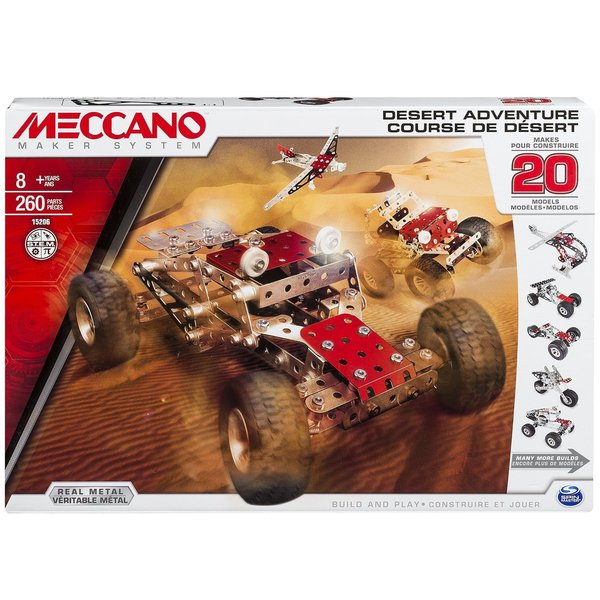 Spin Master Meccano-Erector Multimodel 20 Model Motorized Set Race Car