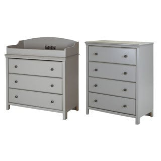 South Shore Cotton Candy Changing Table with 4-drawer Chest