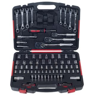 Mechanics Tool Kit by Stalwart - 135 Piece H& Tool Set Includes  Screwdriver, Wrench, & Ratchet Set|https://ak1.ostkcdn.com/images/products/10897474/P17931414.jpg?impolicy=medium