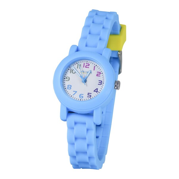 American Design Machine Kids Light Blue and White Dial Analog Watch