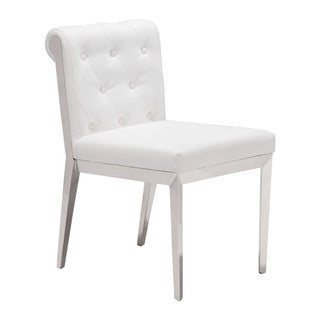 Aris Grey or White Leatherette Dining Chair (Set of 2)