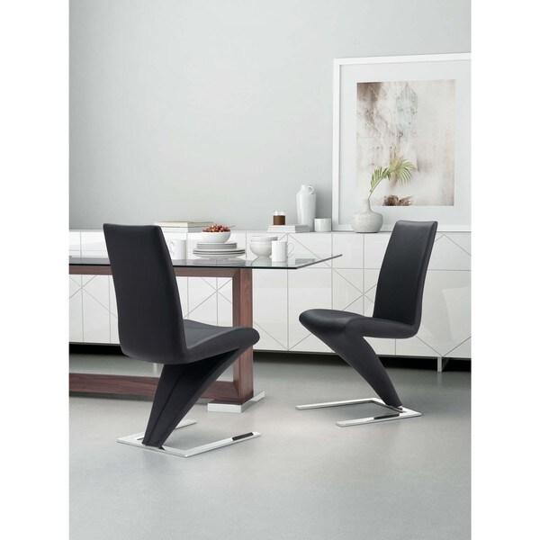 Xavier Leatherette Dining Chair Black: Shop Herron White Or Black Leatherette Dining Chair (Set