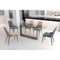 Moor Faux Leather Dining Chair in Grey or Beige (Set of 2)