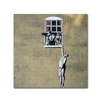 Banksy 'Scandal' 26x26 Canvas Wall Art