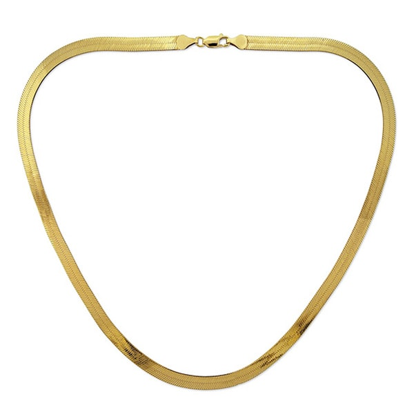a2cc0ae10a2bf Decadence 14k Yellow Gold Herringbone Chain Necklace