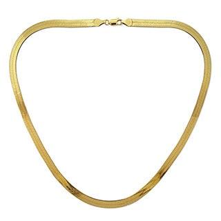 Decadence 14k Yellow Gold Herringbone Chain Necklace