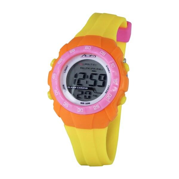 American Design Machine Kids Yellow and Orange Digital Watch