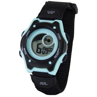 American Design Machine Jr. Kids ADSG 5003 MBLK Hudson Digital Display Japanese Quartz Black Watch