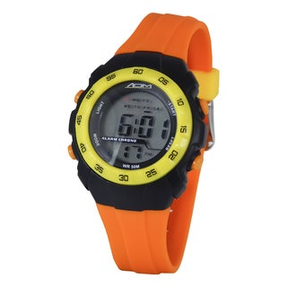 American Design Machine Orange Strap Black Digital Watch