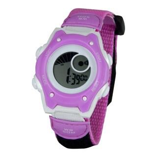 American Design Machine Kids Pink and White Digital Watch