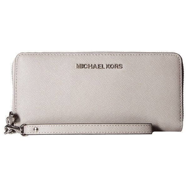 9af3b255a4d8 Shop Michael Michael Kors Jet Set Travel Pearl Grey Continental ...