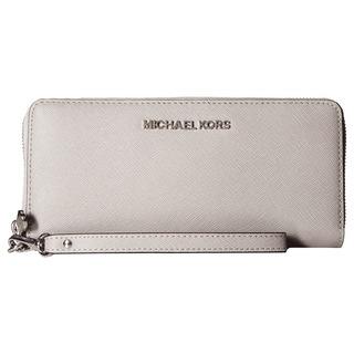 Michael Michael Kors Jet Set Travel Pearl Grey Continental Wallet
