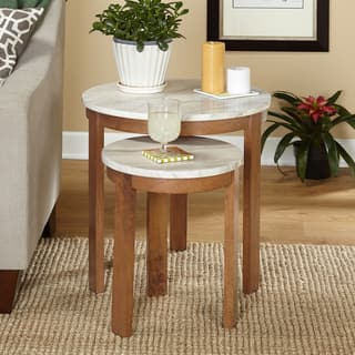 Nesting tables furniture for less overstock simple living edina nesting tables set of two watchthetrailerfo