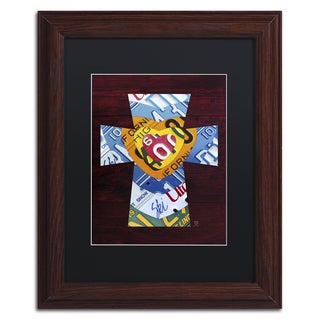 Design Turnpike 'Heart Cross' Black Matte, Wood Framed Canvas Wall Art