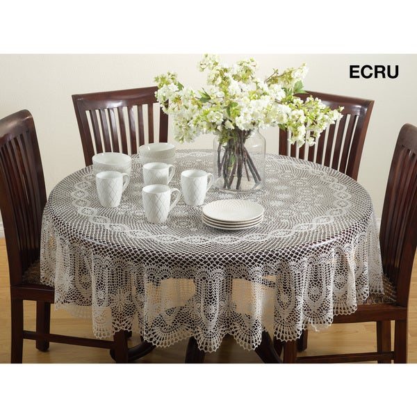 Vinyl Cutwork Tablecloth   Free Shipping On Orders Over $45   Overstock.com    17931533 Part 84