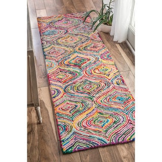 nuLOOM Casual Handmade Modern Cotton Multi Runner Rug (2'6 x 8')