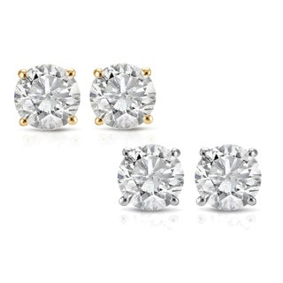 Link to 14k White or Yellow Gold 1/2ct TDW White Diamond Stud Earrings Similar Items in Earrings