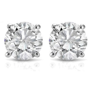 14k White or Yellow Gold 1/2ct TDW White Diamond Stud Earrings (2 options available)