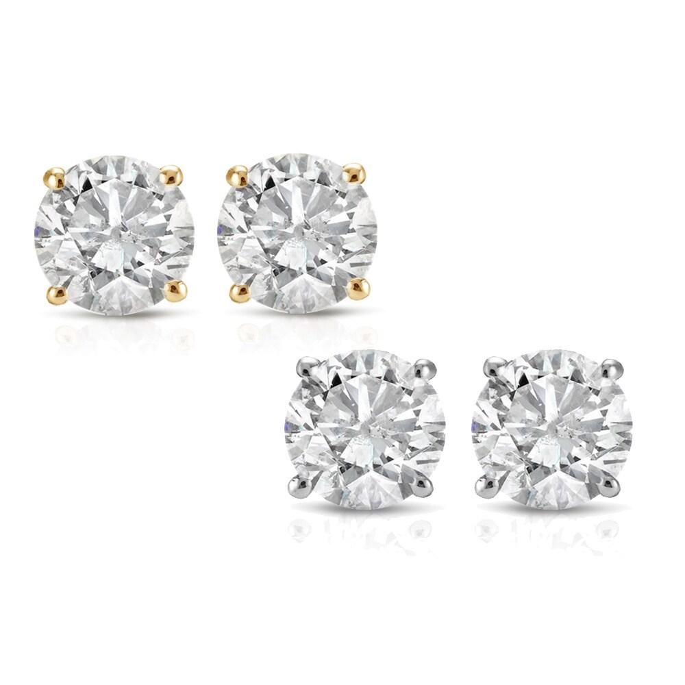 decdfacac Buy Stud Diamond Earrings Online at Overstock | Our Best Earrings Deals