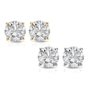 14k White or Yellow Gold 1/2ct TDW White Diamond Stud Earrings