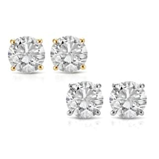 14k White Or Yellow Gold 1 2ct Tdw Diamond Stud Earrings