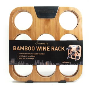 Metrokane Rabbit Bamboo Wine Rack