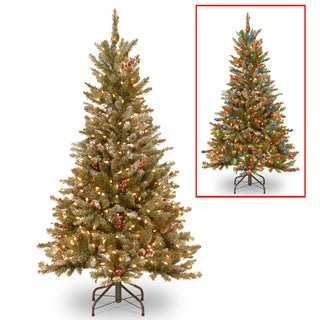 5-foot PowerConnect Frosted Mountain Fir Slim Tree with Dual Color LED Lights